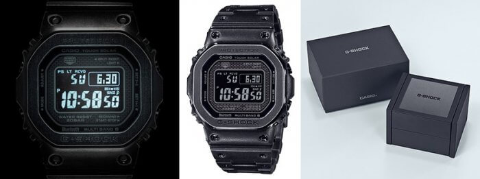 G-Shock GMW-B5000V-1 LED Light and Box