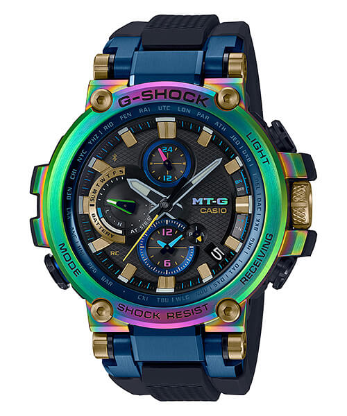 G-Shock MTG-B1000RB-2A with Rainbow Ion Plating for MT-G 20th Anniversary