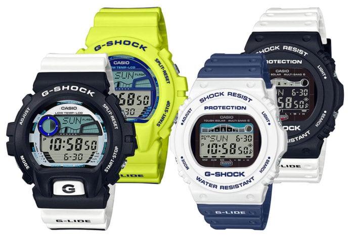 G-Shock G-LIDE Sea Snake Series: GLX-6900SS-1 GLX-6900SS-9 GWX-5700SS-7 GWX-5700SSN-1