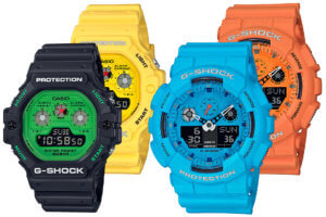 G-Shock Rock Music Series: DW-5900RS-1 DW-5900RS-9 GA-100RS-2A GA-100RS-4A