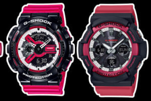 G-Shock AWG-M100SRB-4A GA-110RB-1A GAW-100RB-1A GW-M5610RB-4 Black Red White