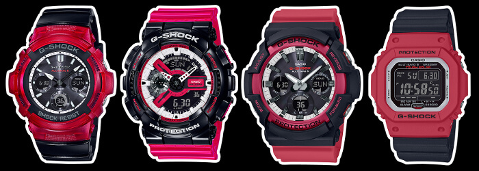 G Shock Red Black And White Rb Series 3 Solar Radio 1
