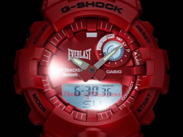 Everlast x G-Shock GBA-800EL LED Light