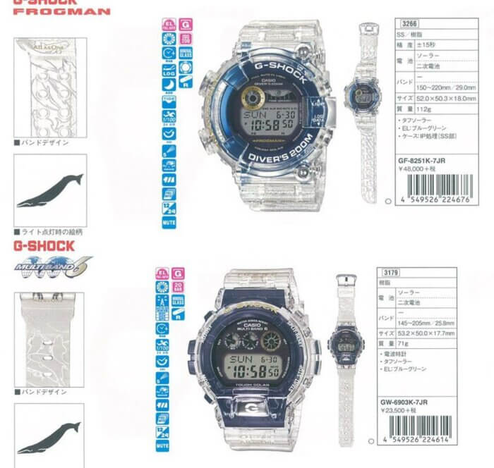 G-Shock GF-8251K-7JR Frogman & GW-6903K-7JR I.C.E.R.C. 2019 Love The Sea And The Earth