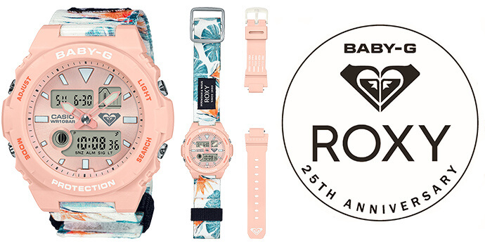 Roxy x Baby-G BAX-100RX Limited Edition 20th Anniversary