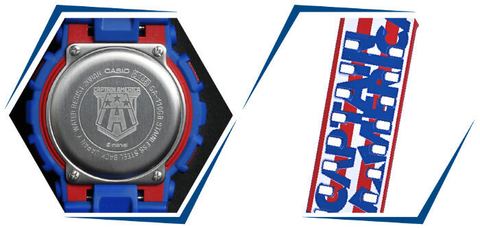 G-SHOCK GA-110CAPTAIN-2PR CAPTAIN AMERICA Case Back and Band