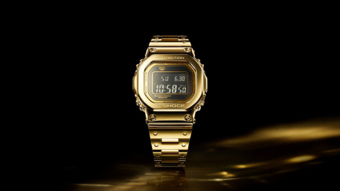 Solid 18-Karat Gold G-Shock G-D5000-9 in Asia and UAE