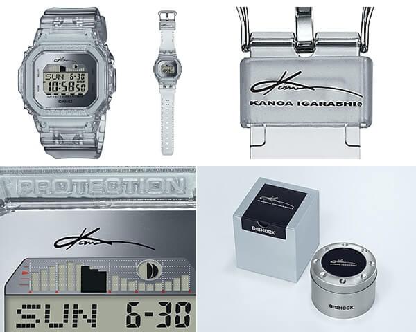 Kanoa Igarashi x G-Shock G-LIDE GLX-5600KI-7 Collaboration Watch, Keeper, Face, Box