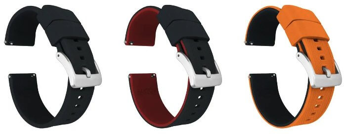 Barton Elite Silicone Quick Release Replacement Band for G-Shock GA-2000 Strap