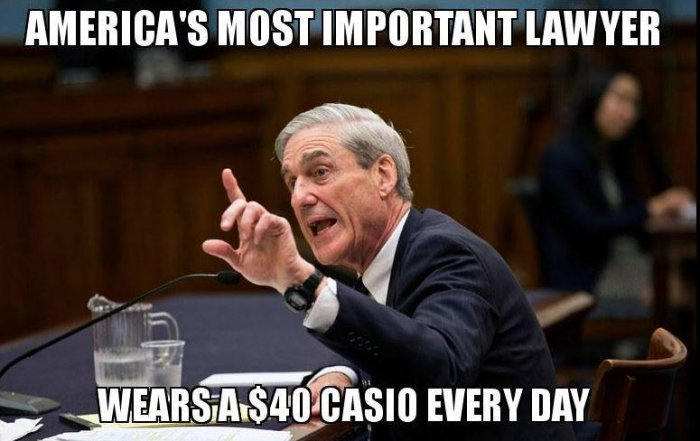 Robert Mueller wears Casio DW-290 Wristwatch