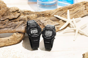 G-Shock and Baby-G G-LIDE GWX-5700 and BLX-570 Black Summer Pair