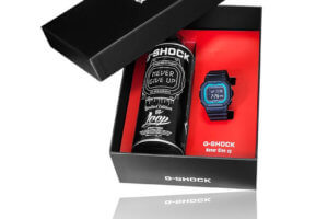 G-Shock GW-B5600-2E-FR Box Set with Limited Edition Spray Paint Can By Loop