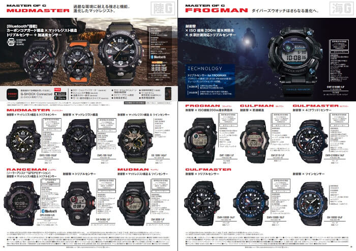Browsing the Casio (Japan) Watch Collection Catalog – G-Central G-Shock Watch Fan Blog