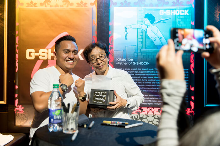 Kikuo Ibe at G-Shock event in Vancouver, B.C. in 2019