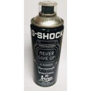 G-Shock Silver Spray Paint Can by Loop aka LoopColors