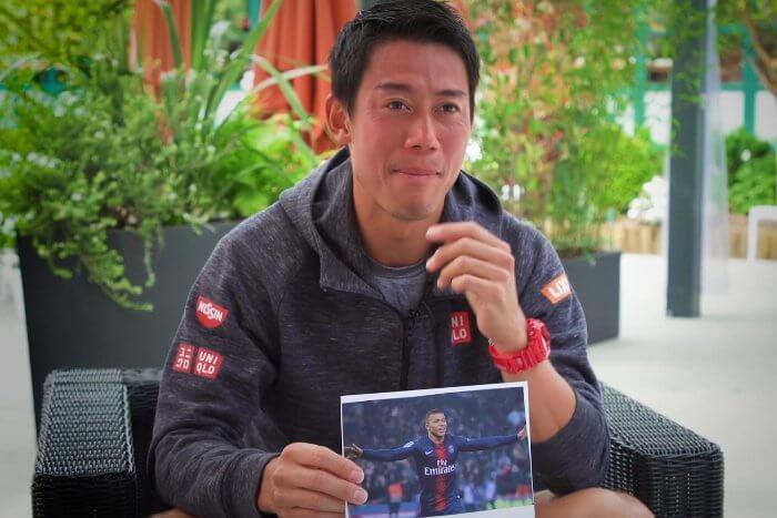 Professional tennis player Kei Nishikori wears Casio G-Shock watch