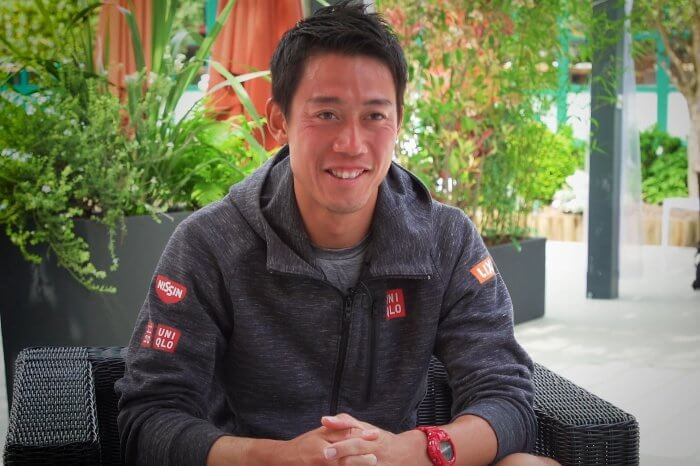 Professional tennis player Kei Nishikori wears G-Shock watch