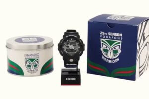 New Zealand Vodafone Warriors x G-Shock GA-710 Box