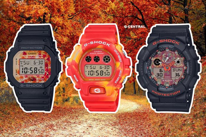 G-Shock Kyo Momiji Color Autumn Leaves Series: DW-5600TAL-1 DW-6900TAL-4 GA-100TAL-1A