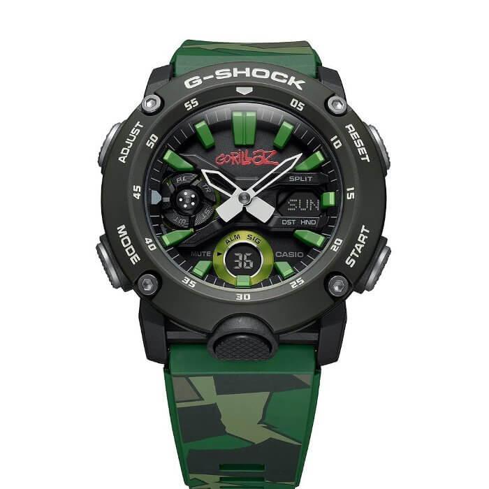Gorillaz x G-Shock GA-2000GZ-3A