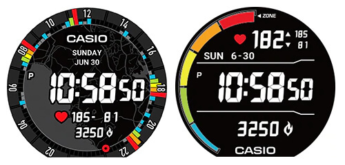 Pro Trek Smart Pro Trek Smart WSD-F21HR Heart Rate Watch Face