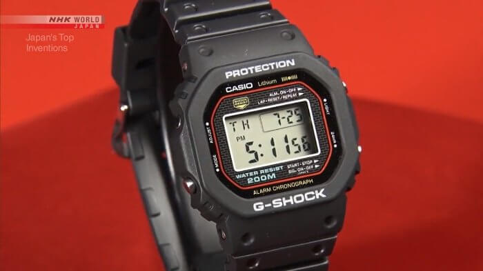 Japan's Top Inventions: G-Shock Shock Resistant Wristwatch