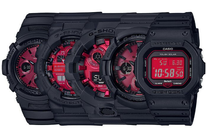 G-Shock Black and Red AR Series