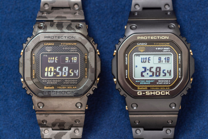 G-Shock GMW-B5000TB-1JR & GMW-B5000TCM-1JR Titanium with DLC and Sapphire