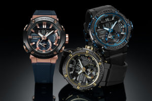 GST-B200X with Carbon Fiber Bezel & GST-B200G-2A Rose Gold