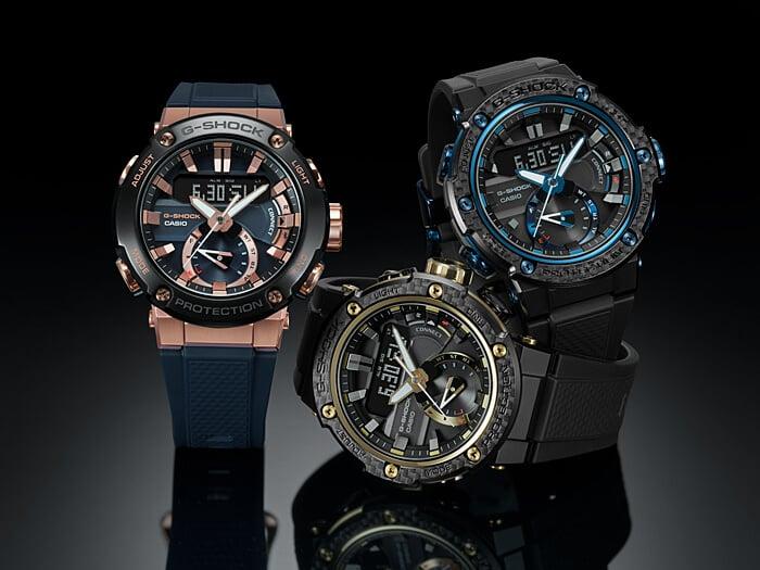 GST-B200X with Carbon Fiber Bezel & Rose Gold GST-B200G-2A – G-Central G-Shock Watch Fan Blog