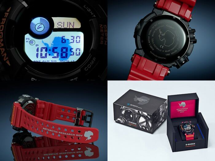 G-Shock Frogman GWF-D1000ARR-1JR EL Backlight, Case Back, Band, Box