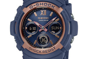 G-Shock AWR-M100SNR-2A Navy and Rose Gold