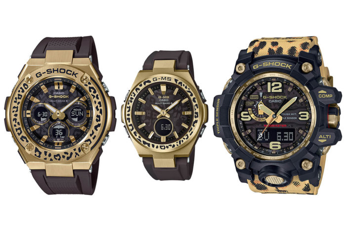 GST-W310WLP-1A9JR MSG-W200WLP-5AJR GWG-1000WLP-1AJR G-Shock Love The Sea And The Earth 2019 Wildlife Promising Leopard Edition