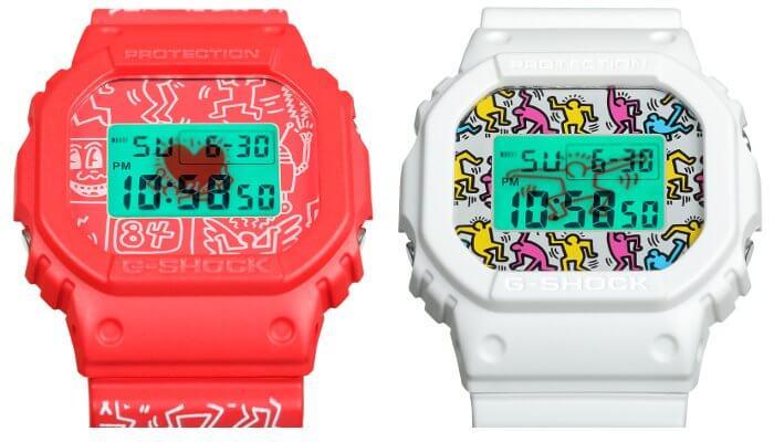 Keith Haring x G-Shock DW-5600 EL Backlights
