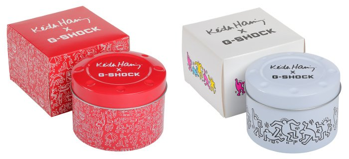 Keith Haring x G-Shock DW-5600 Boxes and Cases