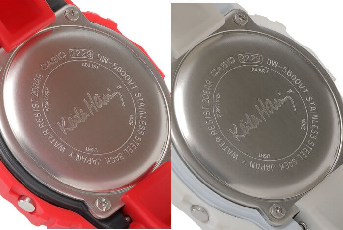 Keith Haring x G-Shock DW-5600 Case Backs