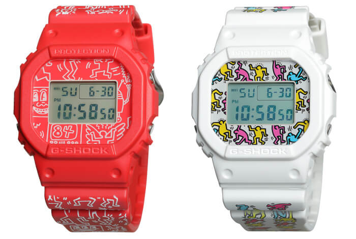 Keith Haring x G-Shock DW-5600 Collaboration Pair for Nov. – G-Central G-Shock Watch Fan Blog