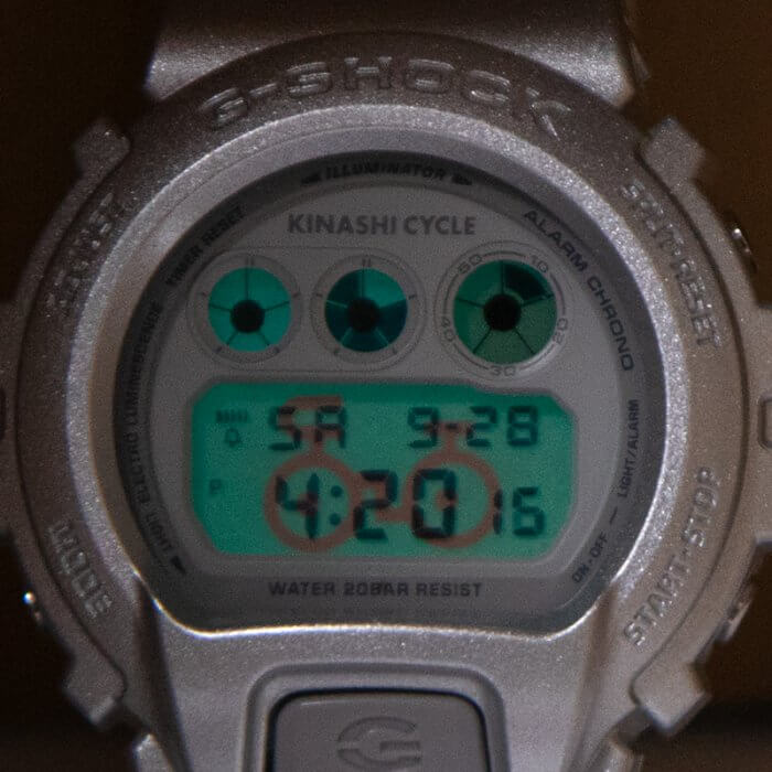 Kinashi Cycle x G-Shock DW-6900 2019 EL Backlight