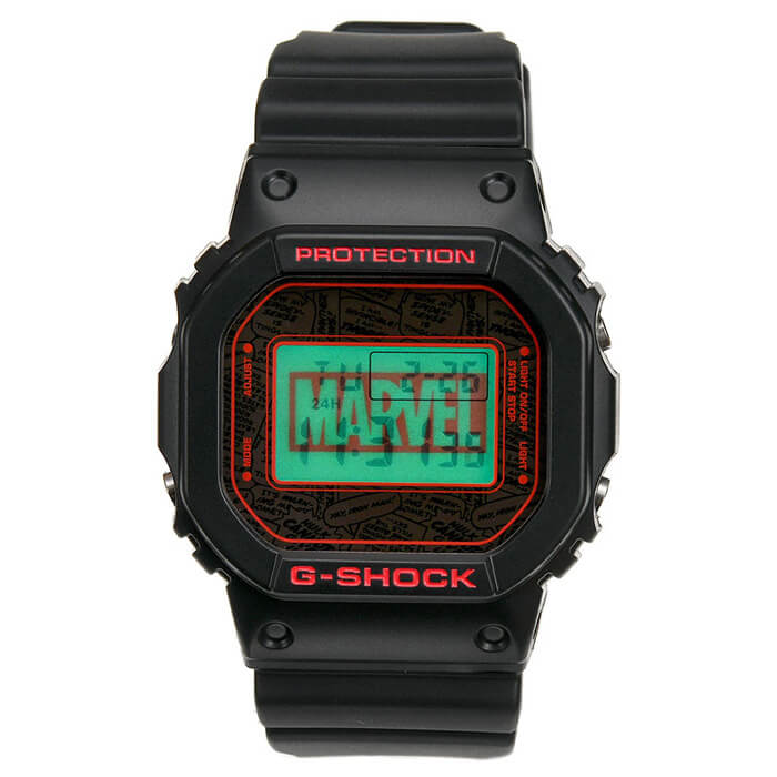 Marvel x G-Shock DW-5600 2019 EL Backlight