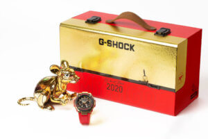G-Shock GST-W300CX-4APFM & GST-W300CXB-4APFM Year of the Rat Chinese New Year 2020 Editions Case with Rat Figure