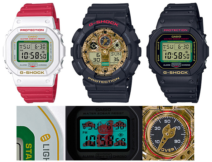 G-Shock Manekineko Beckoning Cat Series DW-5600TMN-1JR, DW-5600TMN-7JR, GA-100TMN-1AJR