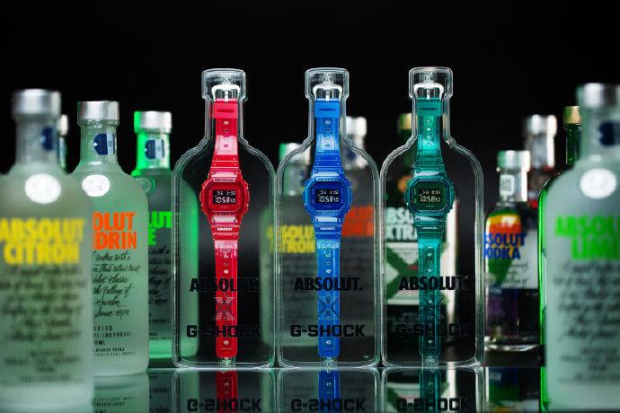 Absolut Vodka x G-Shock DW-5600SB Gift Packs in China Bottle Cases