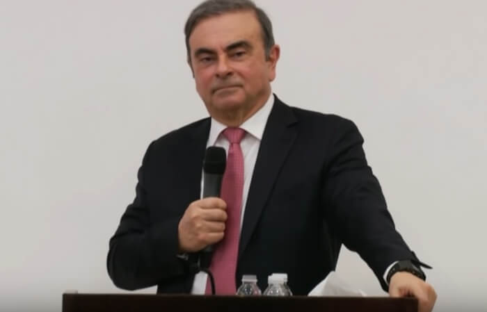 Carlos Ghosn wears Casio G-Shock DW-5600BBN-1A Wristwatch