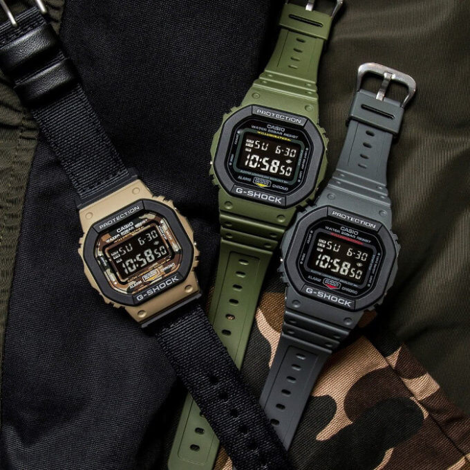 G-Shock DW-5610SU DW-5610SUS Utility Colors