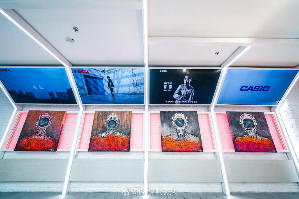 Jahan Loh Paintings at G-Shock Store iAPM Mall Shanghai China