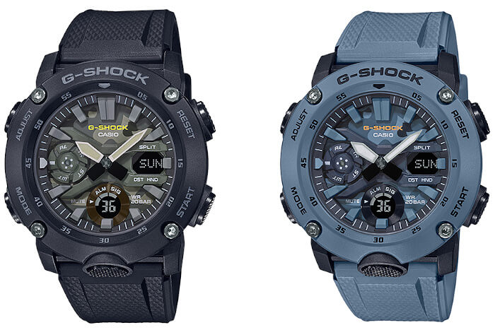 GA-2000SU-1A & GA-2000SU-2A: Utility Colors with Camo Dial – G-Central G-Shock Watch Fan Blog