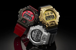 G-Shock GM-6900 with Stainless Steel Metal Bezel for 6900 Series 25th Anniversary