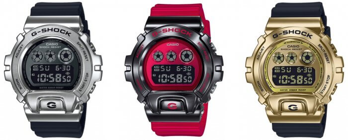 G-Shock GM-6900-1 GM-6900B-4 GM-6900G-9 with Stainless Steel Bezel
