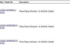 Metal G-Shock 6900 Coming Soon