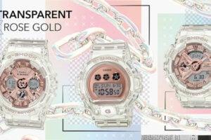 G-Shock S Series Transparent x Rose Gold